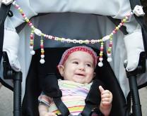 Lanac za dječja kolica s bebinim imenom