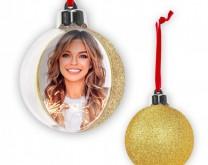 Zlatna božićna kuglica s tvojom slikom