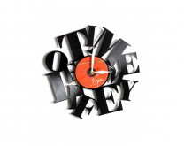 Time of my life - Zidni sat napravljen od gramofonske ploče