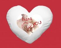 Voli Me - Srce jastuk s Vašom porukom i/ili slikom po želji
