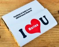 I love you - Personalizirana čokolada