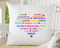 Moja obitelj - Jastuk personaliziran s imenima po želji