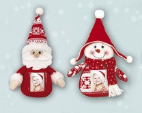 Božićni lutak- platnena lutkica s tvojom slikom