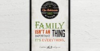 Family is Everything - Personalizirani poster