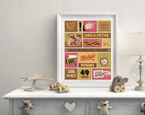 Zvijezda je rođena - personalizirani poster za bebu