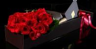 Recite joj to cvijećem - Buket 9 crvenih ruža u luksuznoj kutiji