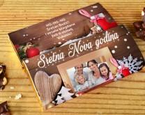 Naj božićna čestitka - Personalizirana čokolada sa slikom