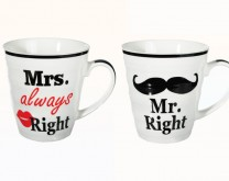 Mr. Right & Mrs. (always) Right - šalice za par