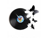 Leptirići u trbuhu - Zidni sat napravljen od gramofonske ploče