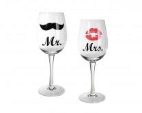 Mr&Mrs - čaše za vino, 430ml