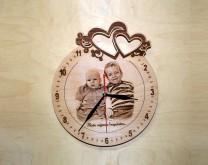 Bezvremenska ljubav - drveni sat izgraviran s Vašom slikom i porukom