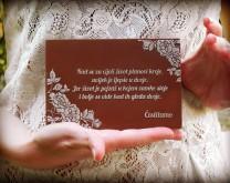 Sweet Love - čokoladna čestitka za mladence