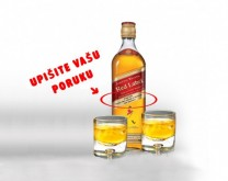 Personalizirani Johnnie Walker Red Label 0,70l + 2 staklene čaše