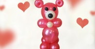 Love You Beary Much - Medo od balona, cca 70cm