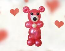 Love You Beary Much - Medo od balona, cca 70cm