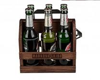 Personalizirana drvena gajba za pivo s otvaračem