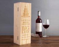 The Big day - Drvena kutija za vino izgravirana porukom po želji
