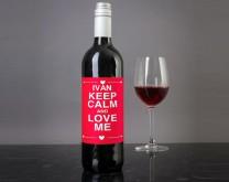 KEEP CALM - Personalizirano vrhunsko vino 0,75l