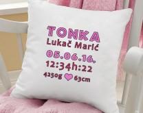 Welcome Baby - Personalizirani jastuk s tiskom po želji