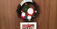 Božićni vijenac sa Vašom slikom, porukom ili logotipom