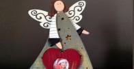 Anđeo - drveni personalizirani okvir za sliku