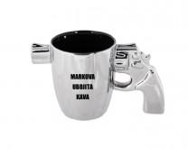 Top Gun - tvoja šalica s ručkom u obliku pištolja s tvojom porukom