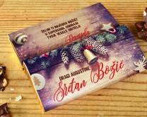 Sretan Božić - Personalizirana čokolada