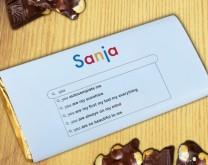Tvoja pretraga je završena - Personalizirana čokolada