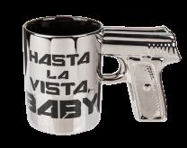 Hasta la Vista Baby - šalica s ručkom u obliku pištolja