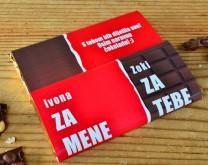Po pola ili bratski - Personalizirana čokolada