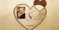 Otkucaj srca - drveni sat izgraviran s Vašom slikom i porukom