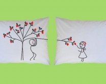 Ex-Tree-Me Love - Dizajnerske jastučnice za par