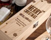 oBORi Me - Drvena kutija za vino izgravirana s porukom po želji