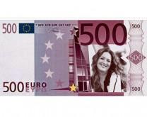 500 lažnih EURA sa sLIKOM slavljenika