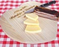 Daska za kuhanje u obliku srca s Vašom porukom
