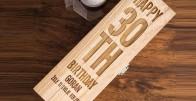 Happy Birthday to You - drvena kutija za vino izgravirana s porukom po želji